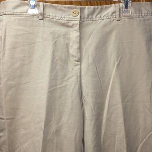 Rafaella Form Function Women's Khaki Capri Pants